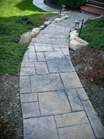 tamped Concrete Walkway